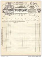 Factuur Invoice Zagerij En Schavernij Notebaert Gent Verspeyenstraat Oud Begijnhof 1910 - Petits Métiers