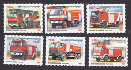 Cambodia, Scott #2000-2005, Mint Hinged, Fire Trucks, Issued 2000 - Cambodia