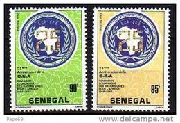 Sénégal N° 601 / 02  XX  25ème Ann. De La Commis. économique Des Nations Unis Pour L´Afrique La Paire Sans Charnière, TB - Senegal (1960-...)