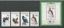 VENDA 1989 N° 192/195 Bloc 5 **  Neufs MNH Superbes Cote 12.50 € Faune Oiseaux En Danger Birds Animaux - Venda