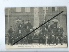 CPA - Conseillers Municipaux Et Sapeurs Pompiers - Rouvray Catillon 1920 - Altri Comuni