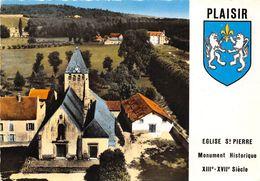 78-PLAISIR- VUE DU CIEL EGLISE ST-PIERRE - Plaisir