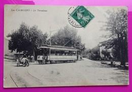 Cpa Les Camoins Terminus Tramway Carte Postale Marseille 13 Bouches Du Rhône Rare - Marseilles