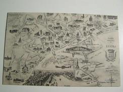 T39  NANTES Guide Souvenir De Nantes  Carte Avec Monuments Nantais - Landkaarten