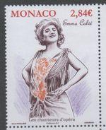 MONACO , 2017, MNH, OPERA, FAMOUS OPERA SINGERS, EMMA CALVÉ, 1v - Singers