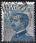 Italy 1908 - King Victor Emmanuel III ( Mi 90 - YT 79 ) - Usati