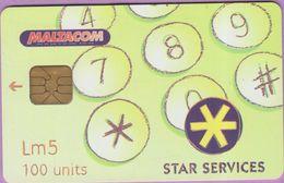 Télécarte Malte °° 89 - Stars Services 6297 - Malta