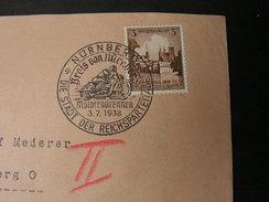 DR Brief Mit SST 1938 Motorradrennen - Deutschland