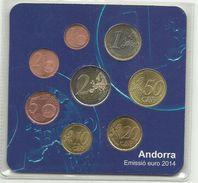 ANDORRA SERIE DE EUROS 2014 PARA RESIDENTES OFERTA 50 ANIVERSARIO FILATELIA M. ABAD (V. B. C.08.17) - Andorra