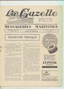 """Rare : La Gazette Des Messageries Maritimes Voyage Du 20 Février 1929 Sur Le Paquebot """"Lotus"""" - Collezioni"""