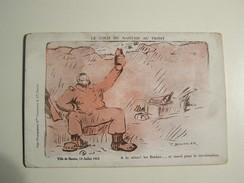 T39  LE COLIS DU NANTAIS AU FRONT  Ville De Nantes 14 Juillet 1915 (dessin BAUDRIER) Militatria Ww1 - Humoristiques