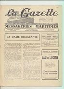"""Rare : La Gazette Des Messageries Maritimes Voyage Du 22 Février 1929 Sur Le Paquebot """"Lotus"""" - Collezioni"""