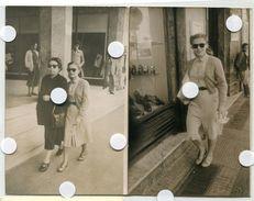 Jeune Femme Fille Elegance Marcheur Passant 50s 1951 Tailleur Jupe Fashion Casablanca  Street Photo Rue - Personnes Anonymes