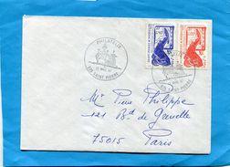 MARCOPHILIE-Saint Pierre Et Miquelon - Lettre  ->Françe-cad - St Pierre1987--stamps N°480-1 Morue - Lettres & Documents