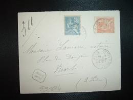 LR TP MOUCHON 25 + 15 OBL.3 JUIL 01 LE PECQ SEINE-ET-OISE (78 YVELINES) - Postmark Collection (Covers)