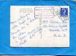 MARCOPHILIE-Carte Postale Touet Sur Var -cad -hexagonal Perlé -DALUIS 1959-Stamp Marianne Muller 20 Fr N+1011B - Marcophilie (Lettres)