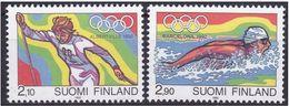 FINLANDIA 1992 - JUEGOS OLIMPICOS BARCELONA Y ALBERTVILLE - YVERT Nº  1127-28 - MICHEL 1161-1162 SCOTT 878-879 - Verano 1992: Barcelona