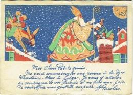 Illustrateur. St.Nicolas à Liège. Publicité Maison Vaxelaire-Claes. - Saint-Nicholas Day