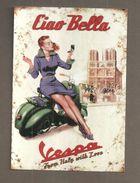 VESPA FROM ITALY WHIH LOVE  PIN UP RIPRODUZIONE CARD CARTOLINA PUBBLICITARIA - Pubblicitari