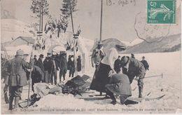 Hautes  Alpes : Briançon : Concours Inter. De Ski , Mont Genèvre , Préparatif De Courses - Briancon