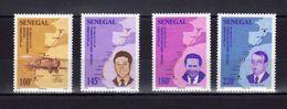 Sénégal Aviation Avion Bréguet 14 + Cartes + Portraits Des Aviateurs Guillaumet, Mermoz Et Saint-Exupéry - Avions
