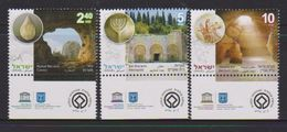 ISRAEL, 2017, MNH, UNESCO WORLD HERITAGE SITES, CAVES, BET SHE'ARIM NECROPOLIS,3v - Geology