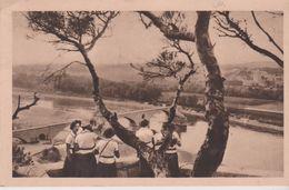 SCOUTISME Les Eclaireuses En Excursion : Le Pont D'Avignon (84) - Scoutisme