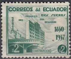 ECUADOR 1938 National Progress Exn - 2s Building MNG - Equateur