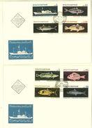 BULGARIA 1969 FAUNA Animals OCEAN´S FISHING - 2 FDC - FDC