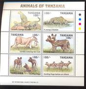TANZANIA   1027  MINT NEVER HINGED MINI SHEET OF WILDLIFE & ANIMALS - Timbres