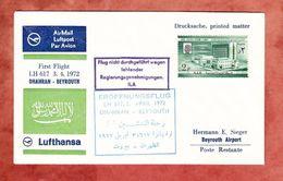 First Flight LH 617 Dhahran - Beyrouth, Nicht Durchgefuehrt, 1972 (41060) - Avions
