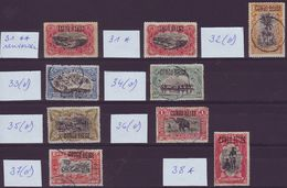 CONGO BELGE - 31 / 38 ** / * / (o) (LOT) - Surcharges à La Main - Cote 393,00 Euro (JM/Q53) - 1894-1923 Mols: Neufs