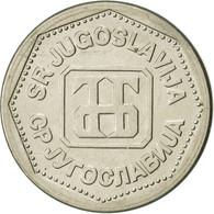 Yougoslavie, 2 Dinara, 1993, SUP, Copper-Nickel-Zinc, KM:155 - Joegoslavië
