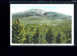 CPA   The Snow  Cross On Mt .Lafayette , Franconia  Notch    : Carte écrite 1924 - White Mountains