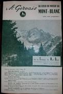 Tramway Du Mont Blanc Saint Gervais Horaires été 1960 - Europe