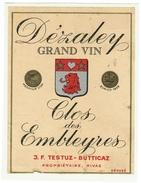 Rare // Dézaley, Clos Des Embleyres, J.F. Testuz-Butticaz à Rivaz, Vaud // Suisse - Etiquettes