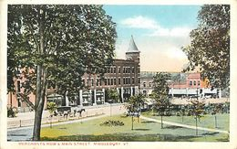 PIE 17-GAN-6057  : MERCHANTS ROW &MAN STREET   MIDDLEBURY - Etats-Unis