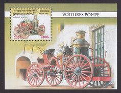 Cambodia, Scott #2065, Mint Hinged, Fire Trucks, Issued 2001 - Cambodge