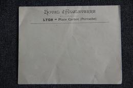 Enveloppe Publicitaire Vierge, LYON - Place Carnot : Hôtel D'ANGLETERRE. - Lettres & Documents