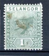 SELANGOR (GB) : DIVERS N° Yvert 8 Obli. - Selangor