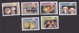 Cambodia, Scott #2066-2071, Mint Hinged, Mushrooms, Issued 2001 - Cambodge