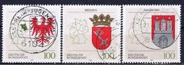 D+ Deutschland 1992 Mi 1589-91 Länderwappen - [7] République Fédérale