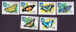 Cambodia, Scott #2073-2078, Mint Hinged, Butterflies, Issued 2001 - Cambodia