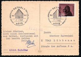 A6568 - Alte Postkarte - Sonderstempel  Bethel 1967 - Marcofilie - EMA (Printmachine)