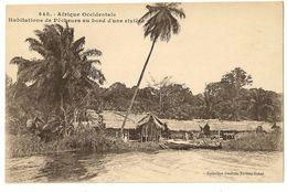 """S6593 - 448 - Afrique Occidentale - Habitations De Pêcheurs Au Bord D""""une Rivière - Cartes Postales"""