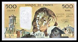 FRANCE : BILLET  500 FRANCS PASCAL 7-1-1993 (2 Scan) - 1962-1997 ''Francs''