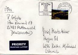 Auslands - Brief Von Briefzentrum 80 Mit 90 Cent Moselschleife Werbestempel München 2017 - BRD