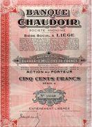Action Ancienne - Banque Chaudoir - Titre De 1929 - Banca & Assicurazione