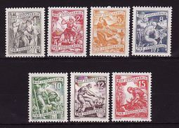 Yugoslavia 1953,Jobs, Industry, 7 Stamps  MNH ** Lux - 1945-1992 République Fédérative Populaire De Yougoslavie