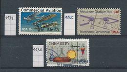 Verenigde Staten   Y / T  1131 - 1132 - 1133   (O) - Gebraucht